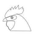 rooster head the black color icon vector image vector image