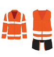 Safety jacket vector image vector image