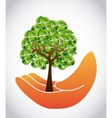 save the forest vector image
