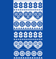 scandinavian seamless pattern floral decor vector image