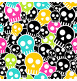 seamless wrapping paper with colkor skulls vector image
