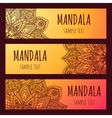 set beautiful floral banners mandala vector image