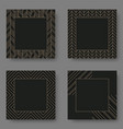 set black square banner template with geometric vector image