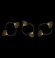 set golden frames with ginkgo biloba leaves in vector image vector image