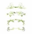 Set of Green Floral Decoration Elements vector image vector image
