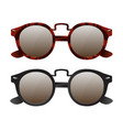 set of retro sunglasses vector image