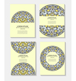 Set templates business cards and invitations with vector image vector image