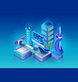 smart city technologies isometric concept vector image