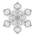 snow flake in zentangle style doodle mandala vector image vector image