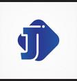 square symbol letter j design minimalist vector image vector image