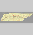 tennessee state map with community assistance vector image