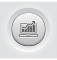 Traffic Icon Grey Button Design vector image