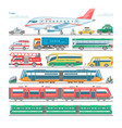 transport public transportable bus or vector image vector image