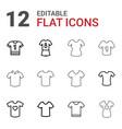 tshirt icons vector image vector image