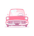 vintage cartoon car vector image