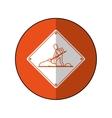 warning under construction repair sign orange vector image