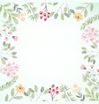 watercolor botanical flower frame with copy space vector image vector image