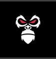 wild gorilla logo vector image vector image