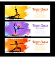 Yoga Banner Set vector image vector image