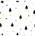 christmas seamless pattern with black christmas vector image