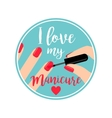 Professional Manicure poster vector image