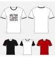 T-shirt blank design template vector image