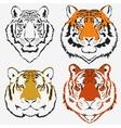 Tiger logo set vector image