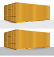 3d perspective yellow cargo container shipping vector image