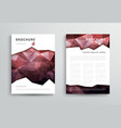 abstract triangular brochure design template vector image