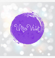 abstract ultraviolet purple grunge circle on white vector image
