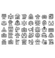 affiliate marketing icons set outline style vector image vector image
