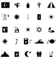 arabic icon set vector image