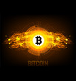 bitcoin digital currency futuristic digital money vector image vector image