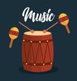 bongo and maracas tropical instruments vector image vector image