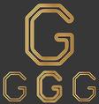Bronze line g logo design set vector image vector image