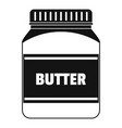 butter nut icon simple style vector image vector image