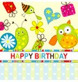 Children Birthday Card vector image vector image