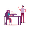 colleagues organize priorities teamwork vector image
