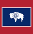 flag of the usa state of wyoming vector image vector image