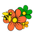 flowers icon icon cartoon vector image