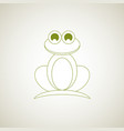 frog logo stylized simplified and isolated vector image vector image