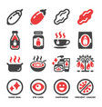 goji berry icon set vector image vector image