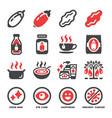 goji berry icon set vector image vector image