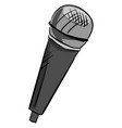gray microphone on white background vector image vector image