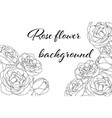 hand drawn card with light and white roses on vector image vector image