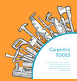 hand drawn woodwork tools carpentry sketch vector image vector image