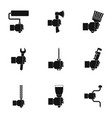 hand tool icon set simple style vector image vector image