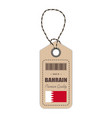 hang tag made in bahrain with flag icon isolated vector image vector image