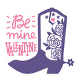 happy valentines day country farm with cowboy vector image vector image