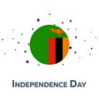 independence day of zambia patriotic banner vector image vector image